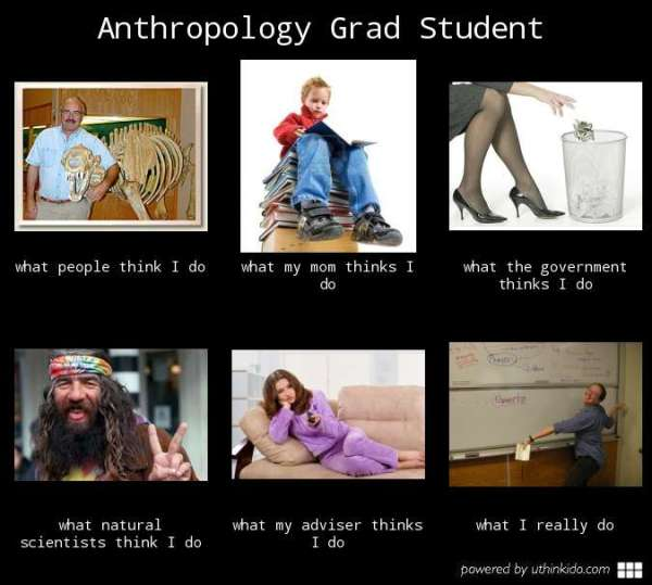 What I Do Meme - Anthro Grad Student